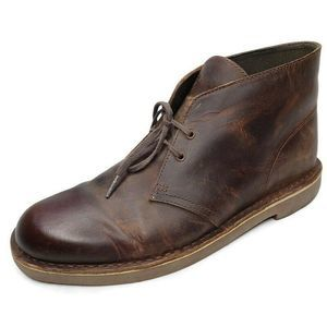 Clark Bushacre2 Brown Leather Chukka Dessert Boots